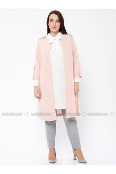 Ecru - Powder - Crew neck - Unlined - Plus Size Evening Suit - Tuana(110337120)