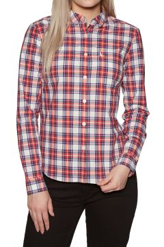 Jack Wills Homefore Check Damen Hemd - Red(100265411)