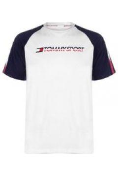 Tommy Sport Tape Logo T Shirt - PVH White100(110469376)