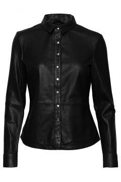 Shirt W/Buttons Langärmliges Hemd Schwarz DEPECHE(114154267)