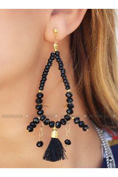 Black - Earring - Takıştır Bijuteri(110317851)