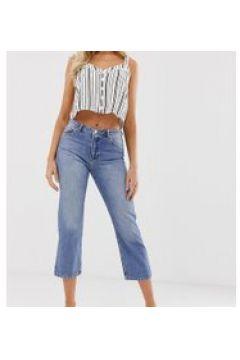 Miss Selfridge - Jeans in mittlerer Waschung mit geradem Beinschnitt - Blau(91570639)