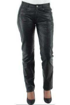 Pantalon Giorgio Cuirs Pantalon Giorgio slim wody en cuir ref_gio33425-noir(88512272)