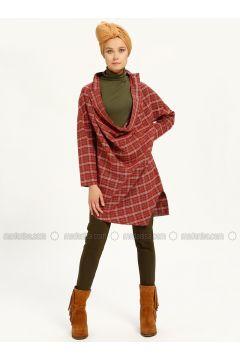 Red - White - Checkered - Tunic - MAKBUSH(110317428)