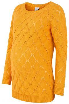 MAMA.LICIOUS Gebreide Gestructureerde Zwangerschapssweater Dames Oranje(108486998)