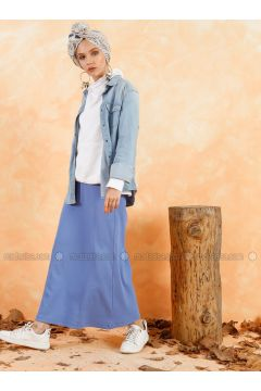 Blue - Unlined - Skirt - Muni Muni(110330516)