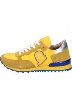 Baskets Invicta sneakers jaune textile daim AB53(88470019)