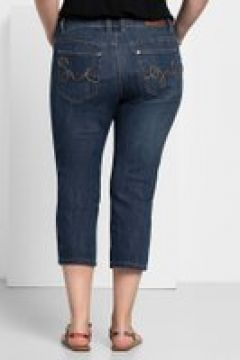 Sheego Capri-Jeans Sheego dark blue Denim(111501397)