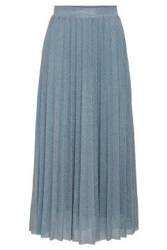 ONLY Paillettes Jupe Longue Women Blue(114235263)