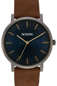 Nixon The Porter Leather gunmetal/indigo/brown(97838093)