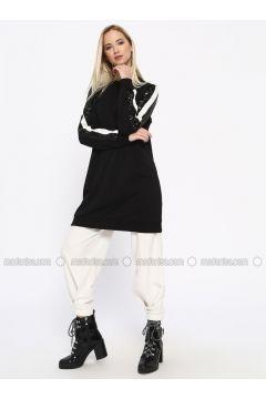 Cotton - Crew neck - Black - Sweat-shirt - Missemramiss(110330936)