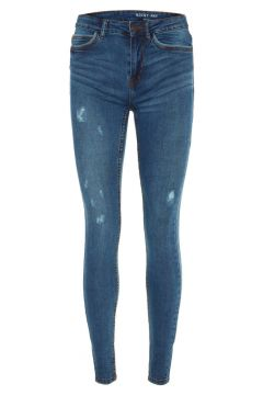 NOISY MAY Nmlucy Normal Waist Skinny Jeans Dames Blauw(94018198)