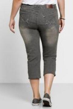 Sheego Capri-Jeans Sheego grey Denim(111501389)
