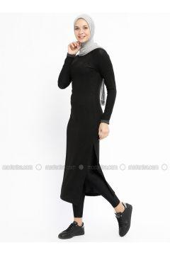 Black - Crew neck - Unlined - Dresses - Bilcee(110319771)