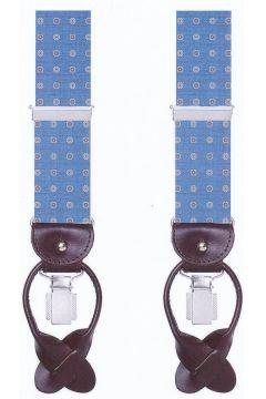 Profuomo Blauwe bretels met witte bloem PPRL100003/M(110995264)