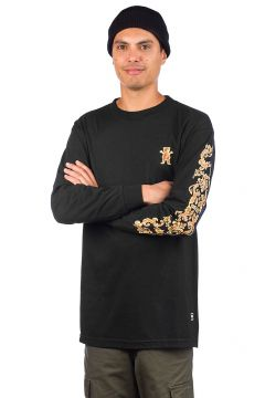 Grizzly Gold Leaf Long Sleeve T-Shirt zwart(96712693)