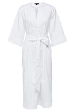 SELECTED Kaftan - Midi Jurk Dames White(115578378)