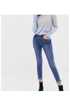 Oasis - Jeans skinny a vita medio alta lavaggio medio-Blu(112790673)