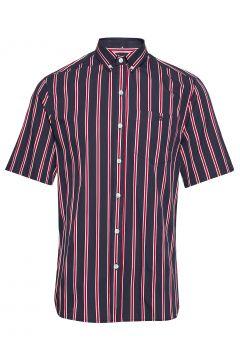 Mesa Shirt - Midnight Blue/Red Kurzärmliges Hemd Pink FORÉT(109010597)