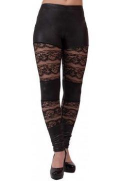 Collants Primtex Legging sexy dentelle noir vinyle aspect cuir(88678721)