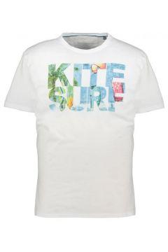 "Kitaro: Lässiges T-Shirt mit plakativem \""Kite Surf\""-Print, 5XL, Weiß(108830252)"