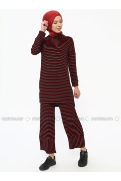 Black - Stripe - Unlined - Suit - Dadali(110313598)