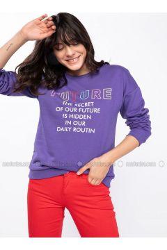 Purple - Sweat-shirt - DeFacto(110334545)