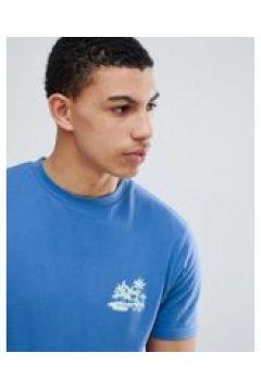 D-Struct - T-Shirt mit Palmenprint hinten - Blau(89510606)