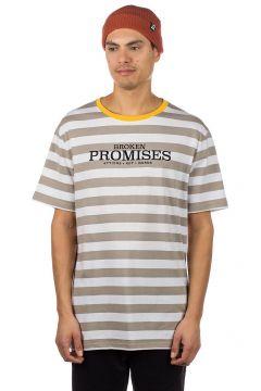 Broken Promises Actions not Words Stripe T-Shirt grijs(85177948)