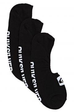 Quiksilver 3 Pack Liner Fashion Socks - Black(115308270)