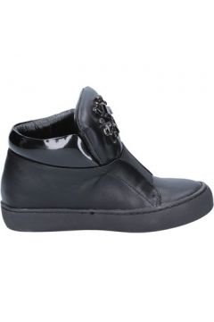 Bottines Sara Lopez sneakers noir cuir BX704(115442623)