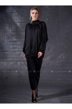 Black - Crew neck - Tunic - Eda Atalay(110331456)