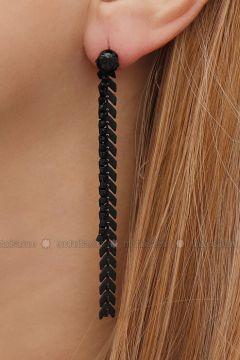 Black - Earring - Takıştır Bijuteri(110326950)