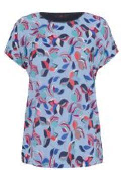 Blusen-Shirt mit überschnittener Schulter Emilia Lay hellblau/multicolor(111508300)