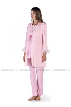 Powder - Crew neck - Pyjama - Artış Collection(110332892)