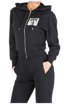Women's sweatshirt zip up teddy bear label(116935833)