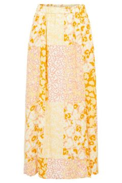 Y.A.S Yaspatcha Viscose Jupe Longue Women Orange; Pink(114596428)
