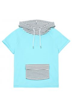Kurzarm Sweatshirt mit Streifen Batty(113867460)