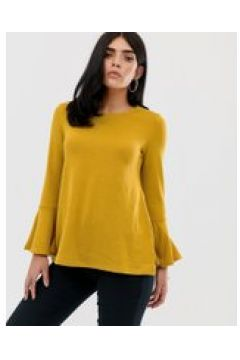AX Paris - Elegante Bluse mit ausgestellten langen Armeln - Gelb(84382722)