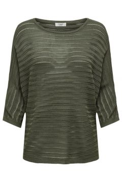ONLY Rayures Pull En Maille Women green(114403130)