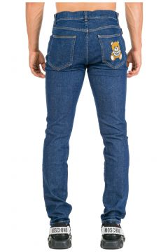 Men's jeans denim teddy bear slim fit(116887569)