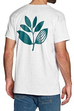 Magenta Classic Plant Kurzarm-T-Shirt - Ash(110360171)