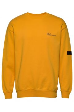Halo Cotton Crew Sweat Sweat-shirt Pullover Gelb HALO(109112614)