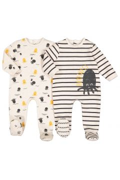 Lote de 2 pijamas de felpa estampada, 0 meses - 3 años(108523039)