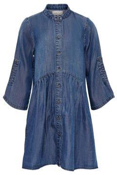 ONLY Volants Robe En Jean Women blue(116511270)
