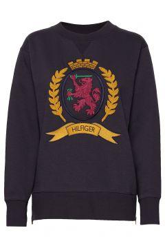 Hcw Crest Side Zip S Sweat-shirt Pullover Schwarz HILFIGER COLLECTION(114153037)