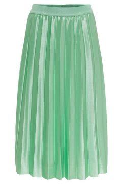 ONLY Plissée Jupe Longue Women Green(116154560)