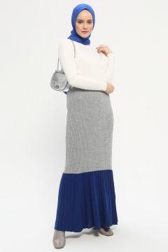 Robe Mocha Triko Gris / Bleu Marine(108581316)