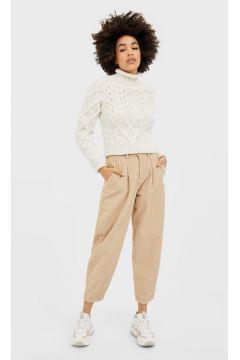 Pullover mit Zopfmuster Ecru(113908488)