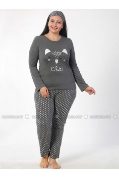 Anthracite - Crew neck - Multi - Pyjama - Elitol(110328421)